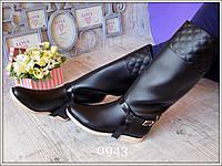Сапоги резиновые женские высокие черные