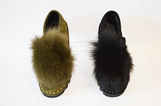 Туфли женские замшевые с мехом Allshoes, фото 3