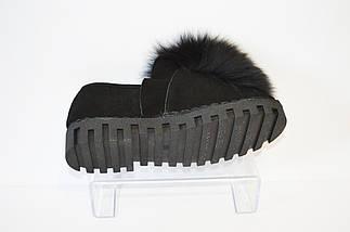 Туфли женские замшевые с мехом Allshoes, фото 2