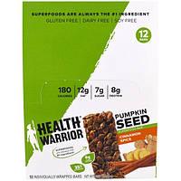 Health Warrior, Inc., Суперпитательный батончик с тыквенными семечками, с ароматом корицы, 12 батончиков, 1,27 унции (36 г) каждый