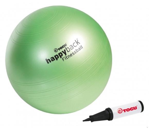 Мяч для фитнеса Happyback Fitnessball TOGU 75 см с насосом. Германия