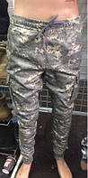 Зауженные камуфляжные мужские штаны Милитари