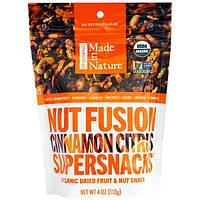 Made in Nature, Суперснеки Суперфьюжн, корица-цитрус, 4 унции (113 г)
