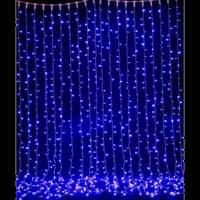 Светодиодная гирлянда-штора, занавес Short curtain 120 B (120 диодов) Синий