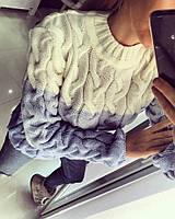 Модный зимний шерстяной свитер