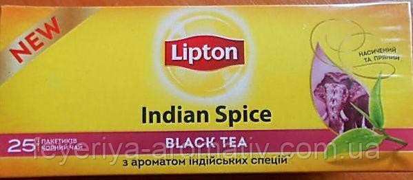 Чай черный Lipton Indian Spice Black Tea 25пак/50г (Украина)