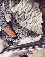 Теплый зимний шерстяной свитер