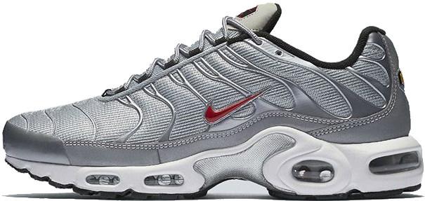 Мужские кроссовки Nike Air Max TN Grey/White/Red, Найк Аир Макс ТН