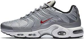 Мужские кроссовки Nike Air Max TN Grey/White/Red, Найк Аир Макс ТН, фото 2