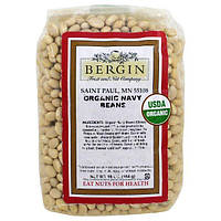 Bergin Fruit and Nut Company, Organic Navy Beans, 16 oz (154 g)