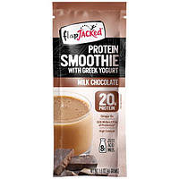FlapJacked, Протеиновый смузи с греческим йогуртом, со вкусом молочного шоколада, 12 пакетиков по 1,6 унции (46 г)