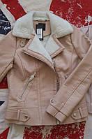 Женская утепленная куртка косуха Newlook, дубленка,  в наличии  XS S, фото 1