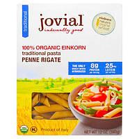 Jovial, Органическая традиционная паста (макаронные изделия) из пшеницы-однозернянки, пенне ригате, 12 унций (340 г)