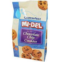 Mi-Del Cookies, Безглютеновое печенье с шоколадными кусочками, 8 унций (227 г)