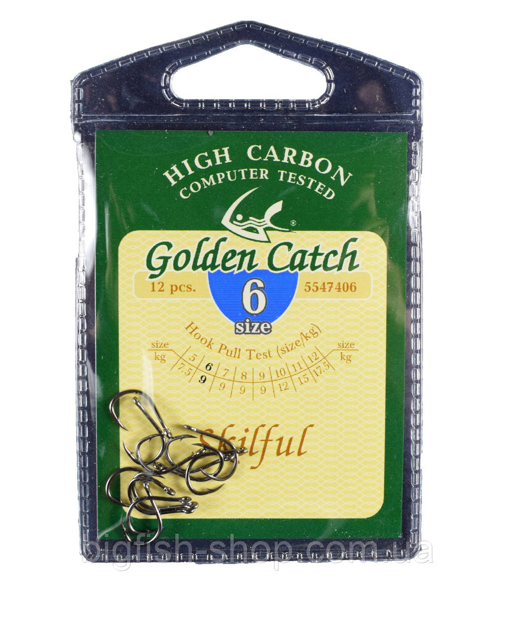 """Крючки Golden Catch """"Skilful"""" № 6"""