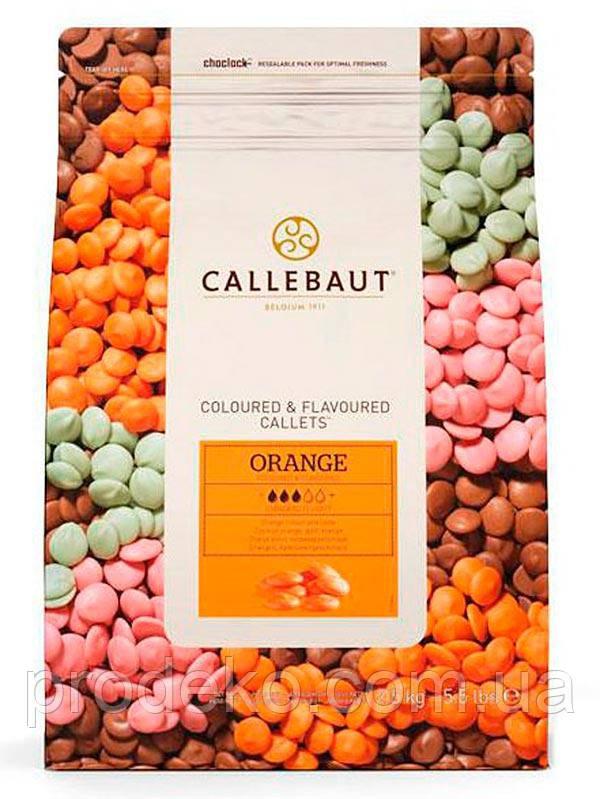 """Шоколад оранжевый со вкусом апельсина """"Orange Callebaut Callets"""" 29% 2.5 кг"""