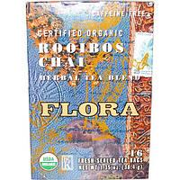 Flora, Органическая травяная смесь ройбуш, масала-чая, без кофеина, 16 пакетиков, 38,4 г(1,35 унции)
