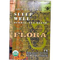 Flora, Сертифицированная органическая смесь травяного чая для хорошего сна, без кофеина, 16 чайных пакетиков, 19,2 г (0,68 унции)