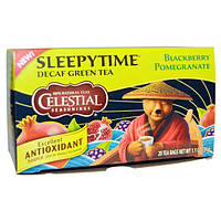 Celestial Seasonings, Время сна, зеленый чай без кофеина с черникой и гранатом, 20 пакетиков, 1.1 унции (31 г)