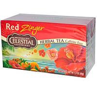 Celestial Seasonings, Травяной чай, без кофеина, Red Zinger, 20 чайных пакетиков, 1,7 унций (49 г)