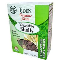 Eden Foods, Органические макаронные изделия, овощные ракушки, 340 г