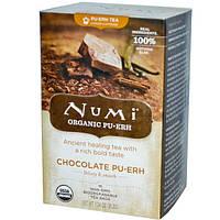 Numi Tea, Органический, шоколадный ПуЭр, 16 пакетиков, 1,24 унции (35,2 г)