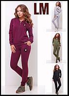 Р 42,44,46,48,50 Женский спортивный костюм 881744 батал осенний весенний зеленый серый черный штаны кофта