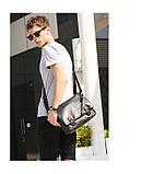 Мужская сумка-портфель. Мужской портфель. Стильный портфель., фото 5