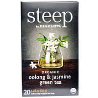 Bigelow, Стип, органический зеленый чай, улун и жасмин, 20 пакетиков, 1,28 унции (36 г)