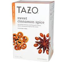 Tazo Teas, Приправленный сладкой корицей, декофеинированный травяной чай, 20 фильтр-пакетов, 1,5 унции (45 г)