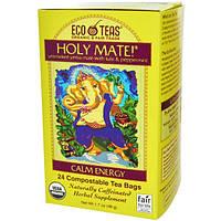 Eco Teas, Holy Mate!, спокойная энергия, некопченое йерба мате с тулси и перечной мятой, 24 чайных пакетика, 1,7 унции (48 г)