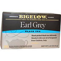 Bigelow, Эрл Грей, смесь черного чая, 20 чайных пакетиков, 1,18 унции (33 г)