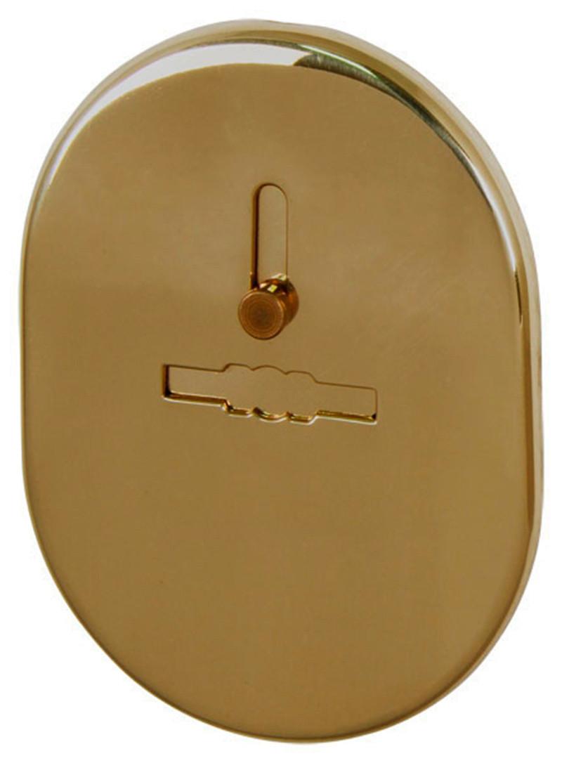 Декоративная накладка под сувальдный ключ Fuaro ESC 476 с шторкой SG матовая латунь (Китай)