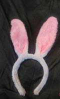 Уши Зайца махровые для маскарада, карнавала