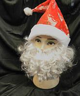Борода Деда Мороза Санта Клауса 15 на 25 см