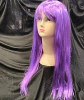 Парик карнавальный длинный ровный 50 см цвета в ассортименте