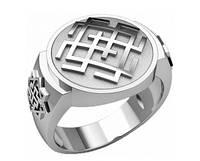 Кольцо серебряное Белобог и Валькирия  30331