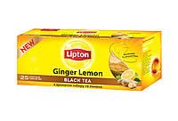 Чай черный с ароматом лимона и имбиря Lipton ginder lemon black tea 25пак/45г (Украина)