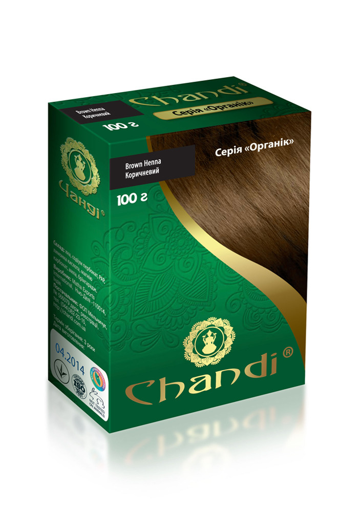 Краска для волос Chandi. Серия Органик. Коричневый, 100г