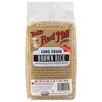 Bobs Red Mill, Длиннозерный коричневый рис, 27 унций (765 г)