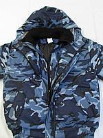 """Куртка зимняя """"Горка-БАРС"""" с трикотажным воротником цвет евразия"""