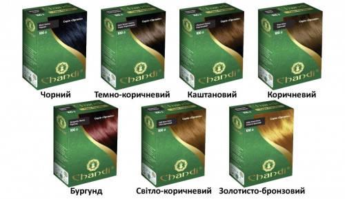 Фарба для волосся Chandi.Серія Органік. Коричневий, 100г, фото 2