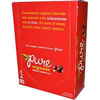 Pure Bar, Органические батончики с вишней и кешью, 12 батончиков, 1,7 унции (48 г) каждый