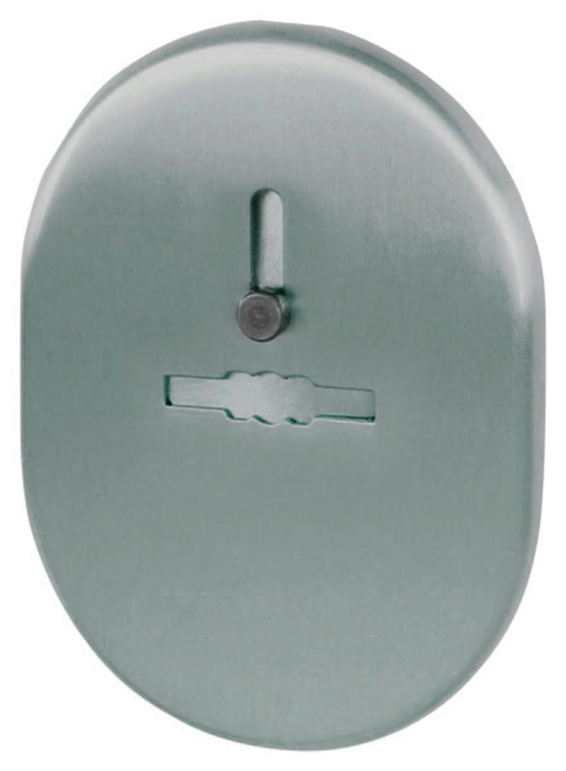 Декоративная накладка под сувальдный ключ Fuaro ESC 476 с шторкой SN матовая никель (Китай)