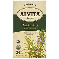 Alvita Teas, Organic, чай с розмарином, без кофеина, 24 чайных пакетика по 1,27 унции (36 г) каждый