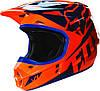 Мотошлем Fox V1 RACE HELMET ECE оранжево-синий, S