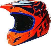 Мотошлем Fox V1 RACE HELMET ECE оранжево-синий, S, фото 1