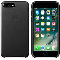 Кожаный чехол Apple Leather Case IPHONE 7/8 Metal Button (Black), фото 1