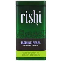 Rishi Tea, Жасминовый жемчуг, рассыпной зеленый чай, 3 унции (85 г)