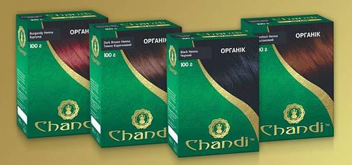 Фарба для волосся Chandi. Серія Органік. Світло-коричневий, 100г, фото 2